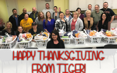 Tiger Donates Thanksgiving Meals